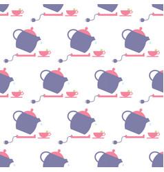 Tea pot pattern vector