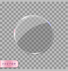 Transparent glass with glares vector