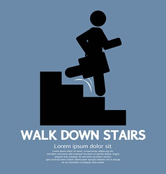 Walk down stairs symbol vector