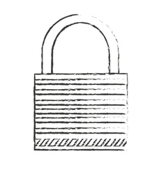 Isolated padlock design vector