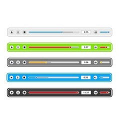 Music player templates vector