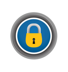 Padlock security object frame vector