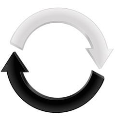 Arrow black and white refresh icon vector