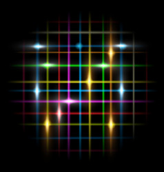 abstraction dark and neon lines vector image