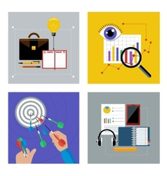 Concept set for business vector
