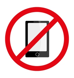 No phones cellphones smartphones sign icon vector