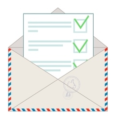 Approved message on white background vector