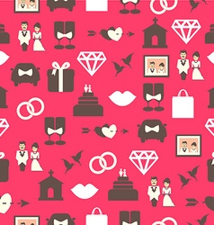 Seamless pattern with wedding equipment vector