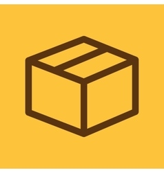 The box icon delivery and shipping symbol flat vector