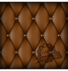 Brown buttoned luxury leather vector