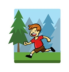 Kids activity run vector