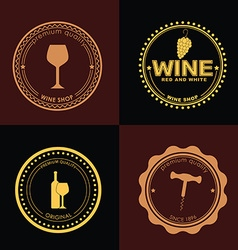 Logo design for wine shops cafes restaurants vector