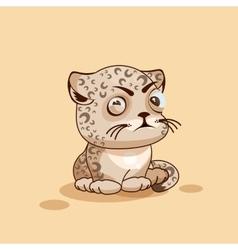 Leopard cub squints vector