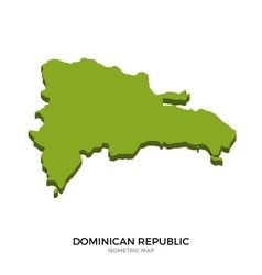 Isometric map of dominican republic detailed vector