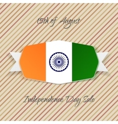 India independence day realistic emblem vector