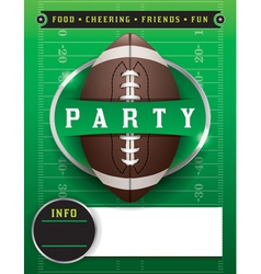 American football party template vector