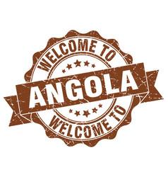 Angola round ribbon seal vector
