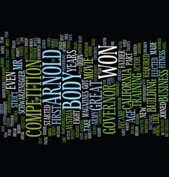 Arnold schwarzenegger text background word cloud vector