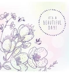 beautiful spring flowers vector image
