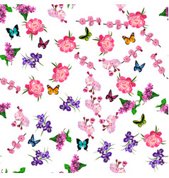 Blooming lilac flower vector