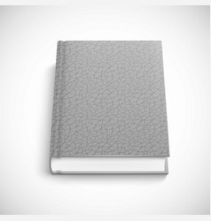 Book template with grey color lather hard cover vector