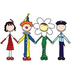 carnival kids vector image vector image