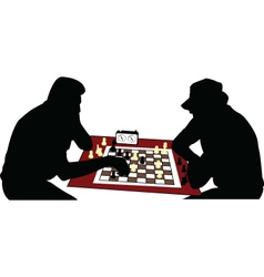 chess players vector image
