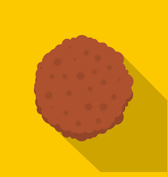 Cutlets icon flat style vector