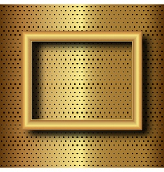 Frame on gold vector