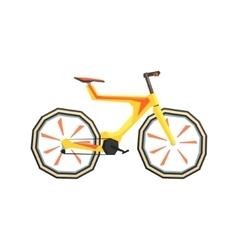 Futurictic design yellow bicycle vector