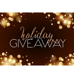 Holiday giveaway card with bokeh effect at dark vector