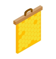 Honeycomb frame isometric 3d icon vector