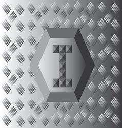 I text aluminium wallpaper vector
