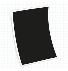 Instant photo frame vector