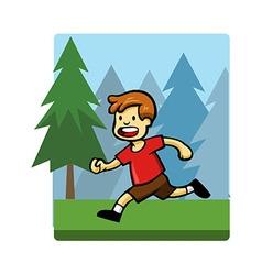 Kids activity run vector