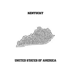 Label with map of kentucky vector
