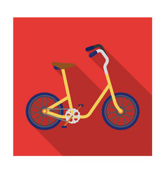 Little yellow children s bicycle bicycles for vector