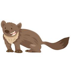 Marten cartoon animal character vector