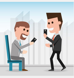 men with smartphone communication lifestyle vector image vector image