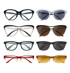 Modern glasses set vector