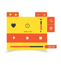 Music player 30 vector image