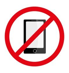 No phones cellphones smartphones sign icon vector