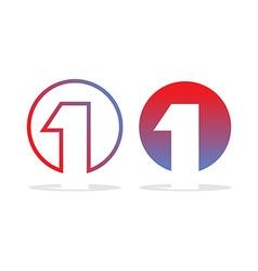 Number one logo figure 1 emblem for company design vector