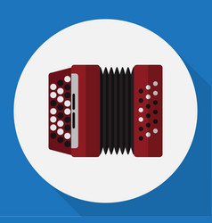 Of audio symbol on accordion vector