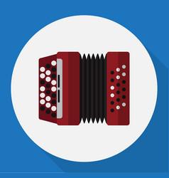 of audio symbol on accordion vector image vector image