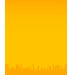 Orange City Background vector image vector image