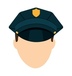 police law isolated icon vector image vector image