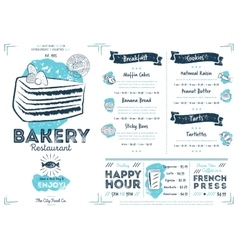 Restaurant cafe bakery menu template vector