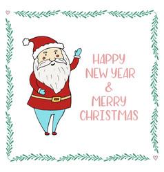santa claus cartoon character christmas and vector image