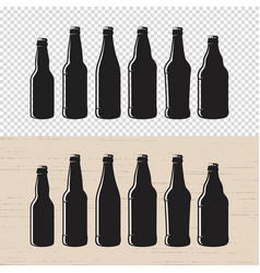 set of textured craft beer bottle label designs vector image